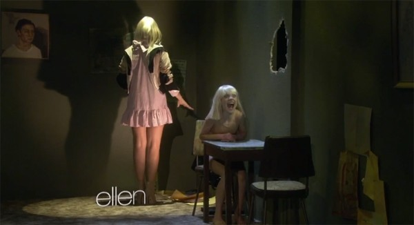 Sia and maddie ziegler recreate chandelier music video on the this morning sia made her television debut on the ellen degeneres show by recreating her chandelier music video alongside 11 year old dancer maddie aloadofball Gallery